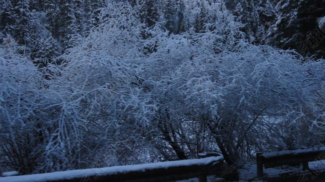雪山雪景冬季自然风光