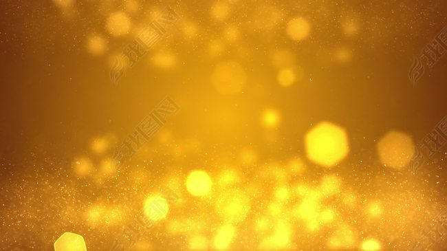 金色粒子光效视频高清背景素材