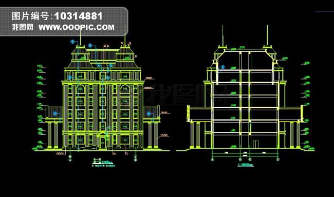 欧式建筑cad图