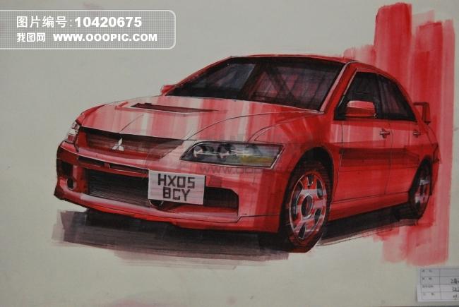 汽车 手绘 产品设计 工业造型 水彩