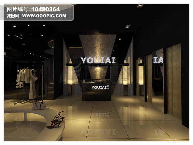 高档服装店模型含材质灯光