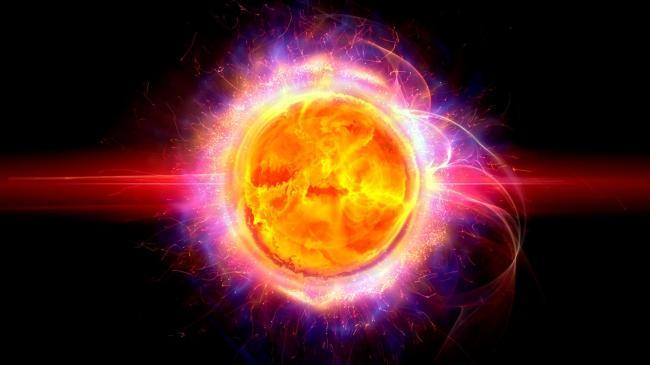 金黄地球球体发光效果动态素材(高清)