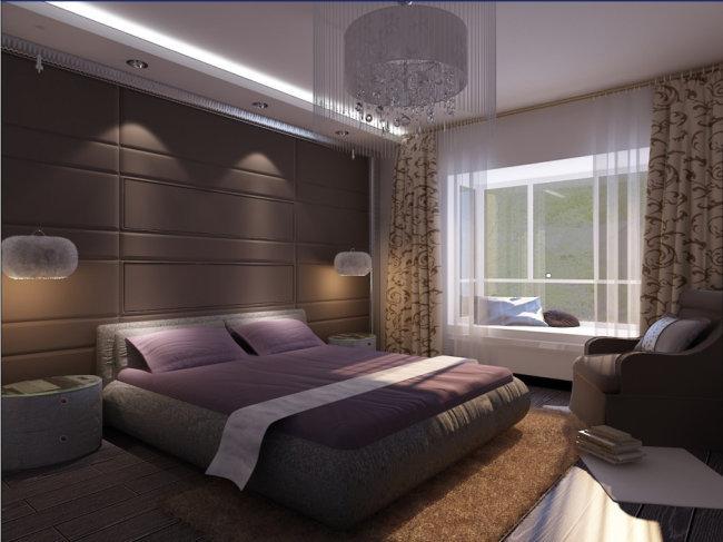 卧室3d效果图模型模版