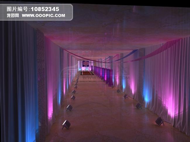 企业年会活动通道走廊布置舞美设计效果图