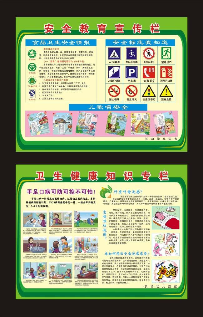 幼儿园健康教育计划_幼儿园安全教育宣传栏图片模板下载(图片编号:11185472)_学校展板 ...