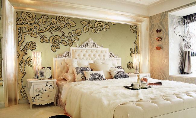 欧式花纹客厅卧室装饰画背景墙图片