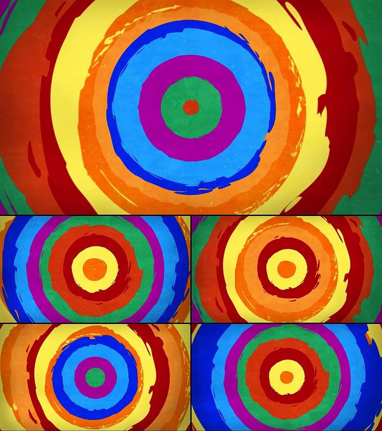 圆形扩散儿童动画卡通棒棒糖视频背景