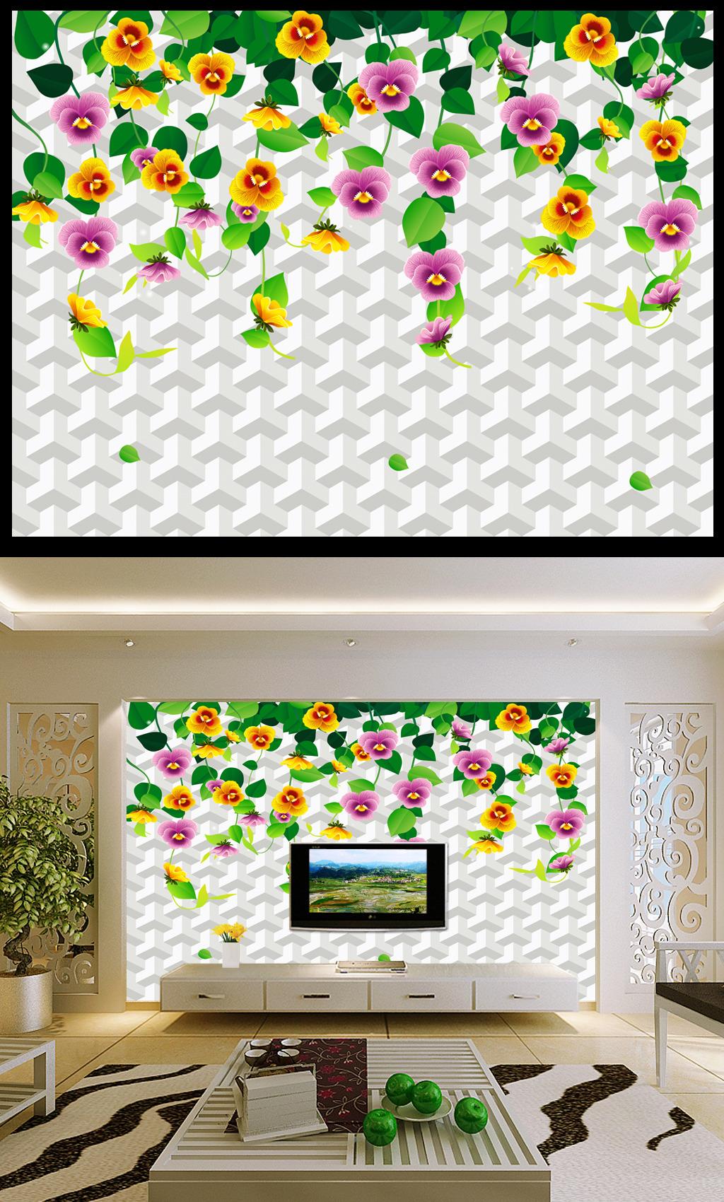 木工制作电视背景墙壁纸电视墙图片简约新型装饰材料大全电视背景厂家