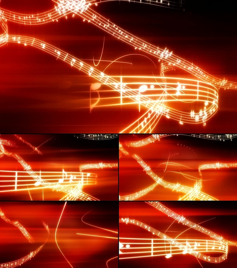 音符符号音乐五线谱歌LED视频素材