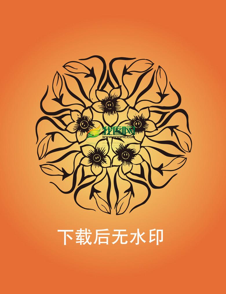 中国传统元素雕刻图案AI矢量格式图片