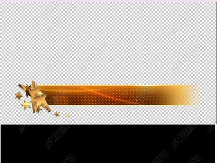 五角星角标标题栏字幕条带透明通道视频