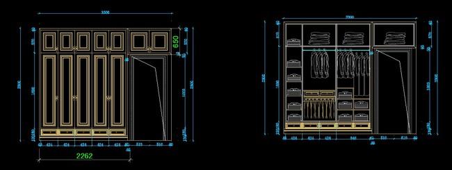 cad衣柜图纸模板下载(图片编号:11979329)