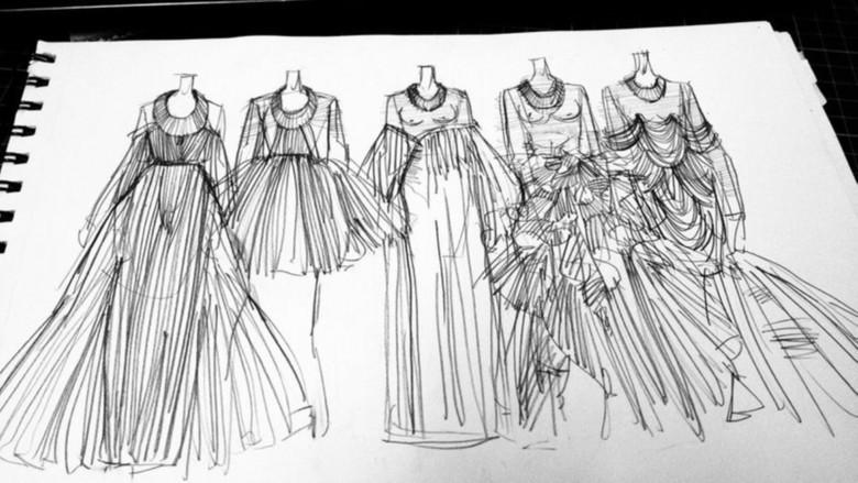 婚纱设计手稿图片素材_高清模板下载(0.81mb)_裙子-我