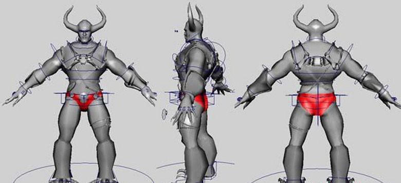 模型库 其他模型 其他模型 > 已绑定牛角怪物maya模型  版权图片 素材