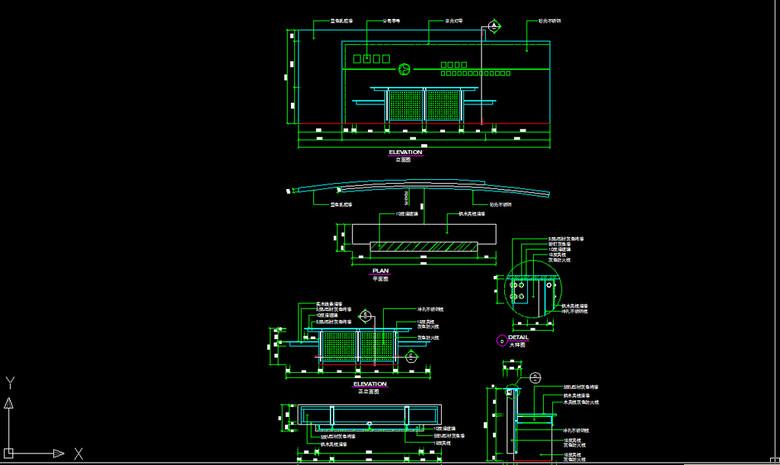 公司接待台前台形象墙CAD施工图