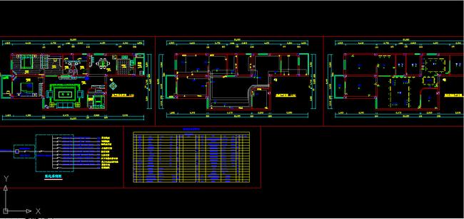 室内装修电路cad施工图纸设计下载