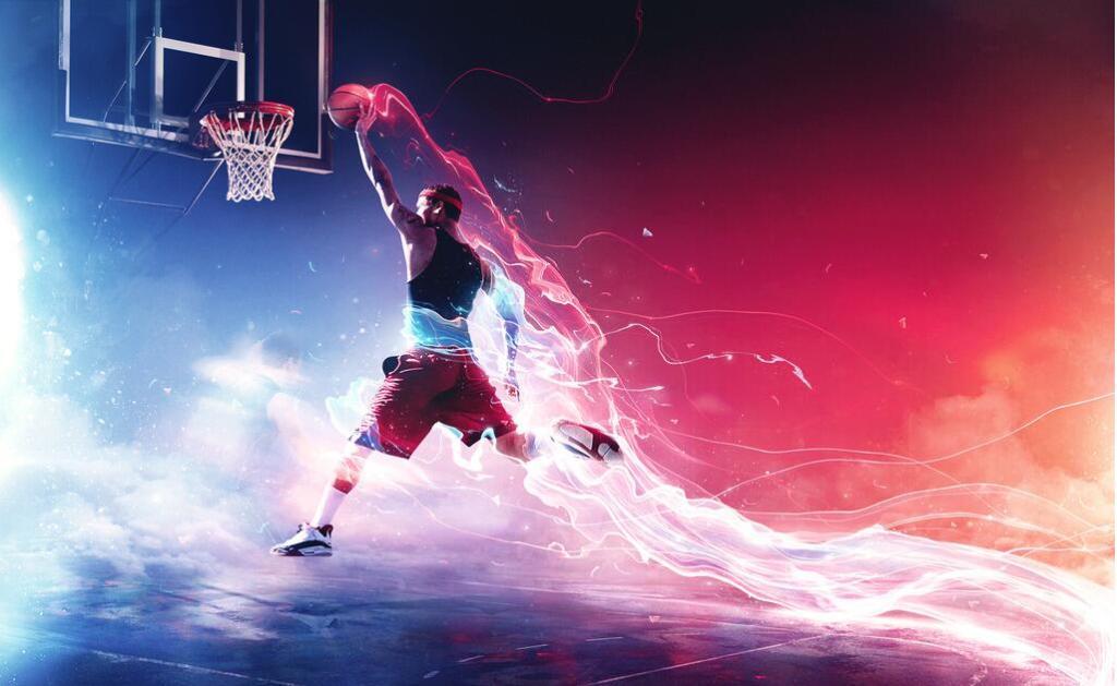 篮球比赛海报时尚篮球赛华丽篮球