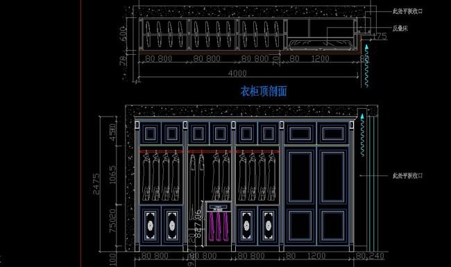 cad衣柜生产图纸平面设计图下载(图片0.19mb)_家居cad
