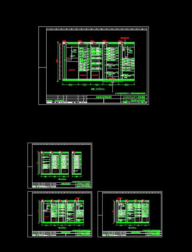 低压配电柜系统cad图纸