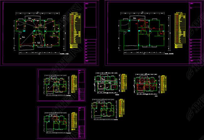 家装电路图CAD图纸