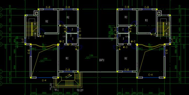 三层别墅施工图带节点布局图cad图纸
