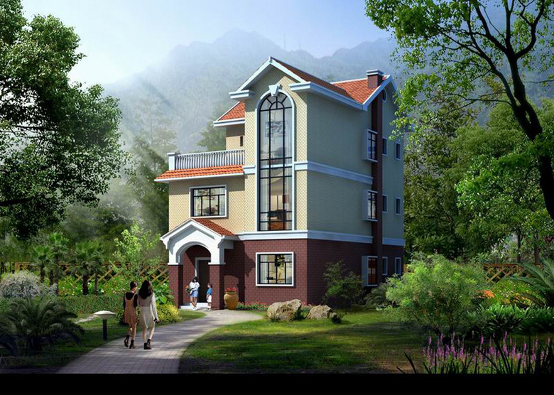 欧式农村别墅设计图案例三图片