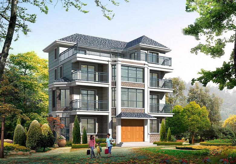 三层别墅施工图带水电布局图CAD图纸