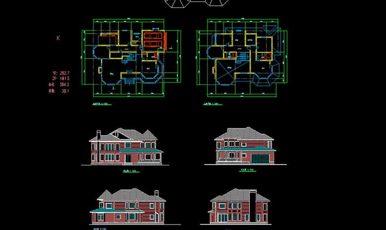 别墅施工图CAD图纸平面设计图下载 图片0.16MB 别墅CAD图纸大全