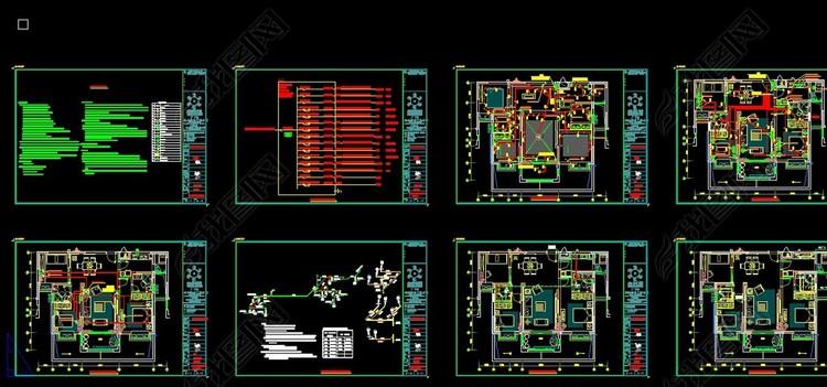 CAD水电系统图