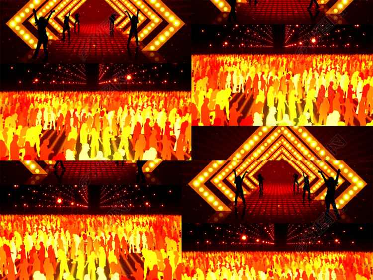 高清小苹果广场舞背景视频素材