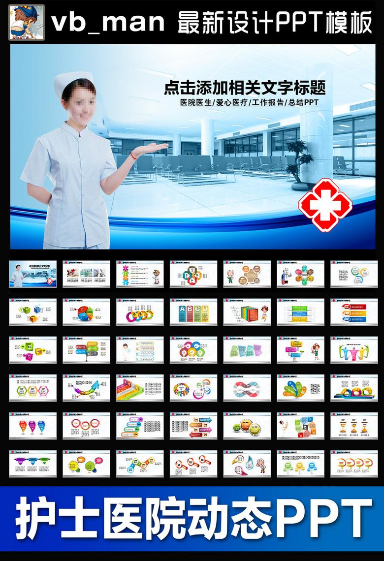 护士医院医疗卫生医生PPT模板下载