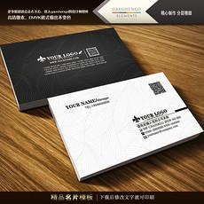 黑色名片设计欣赏通用名片PSD模板