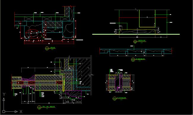 别墅入户门cad设计图纸下载平面图(图片0.18mb)_节点