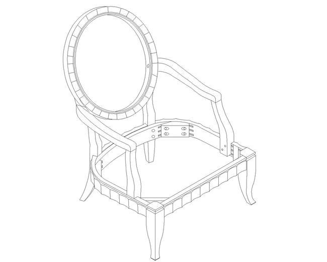 欧式椅子cad图纸图片