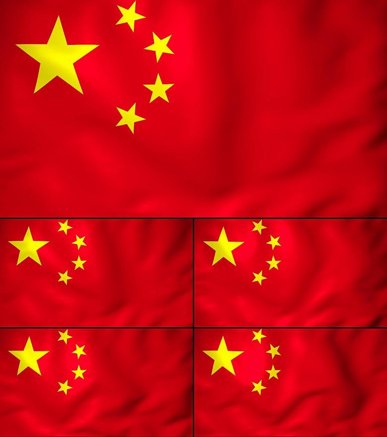 高清飘扬的中国国旗