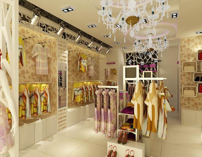 原创女装店图服装店3d模型