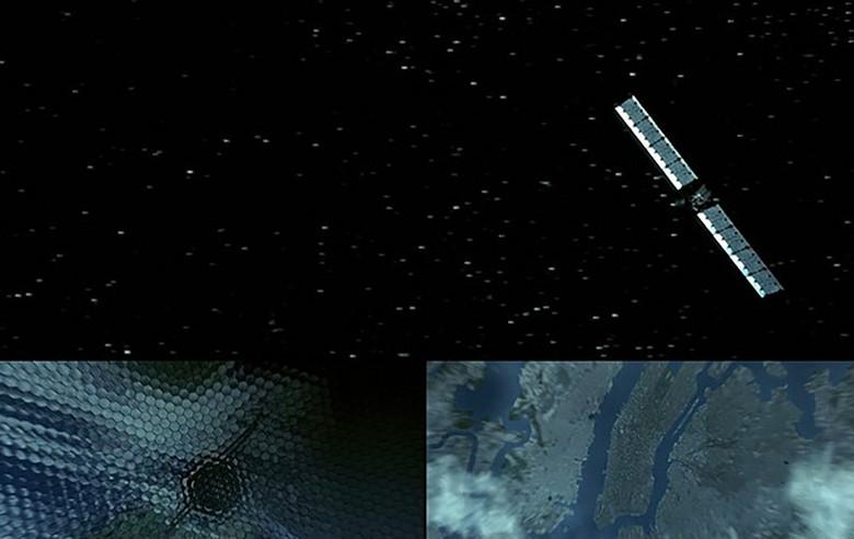 从太空卫星穿梭到手机电路板高科技酷炫视频