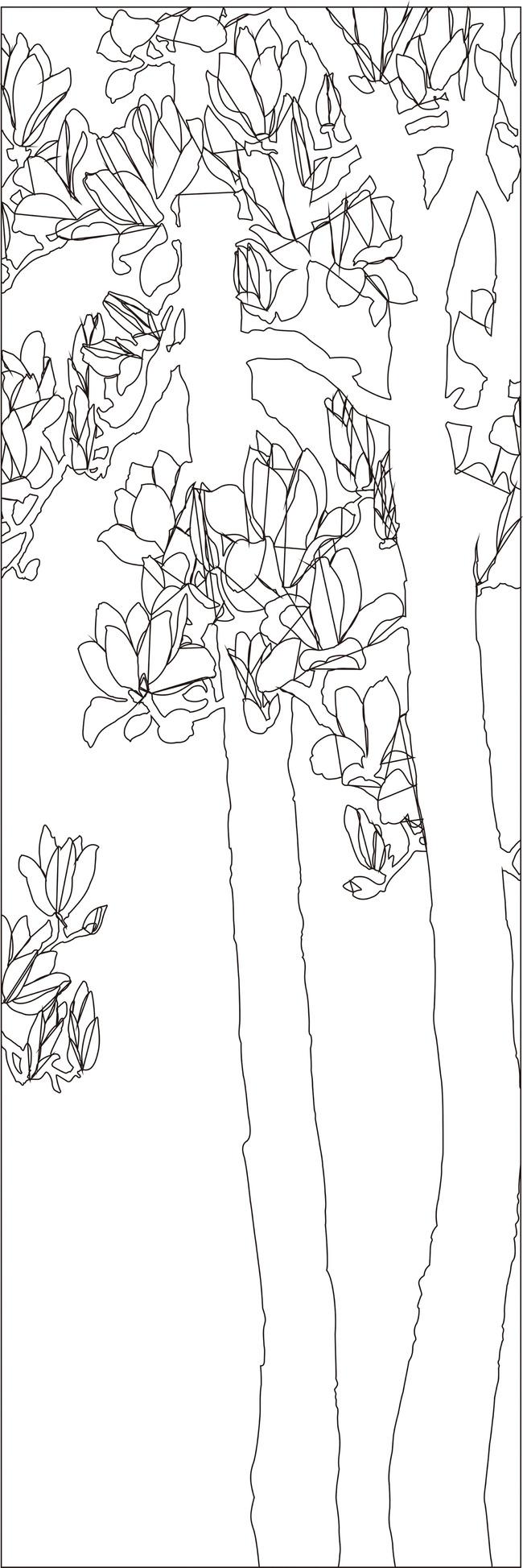 银杏树背景墙