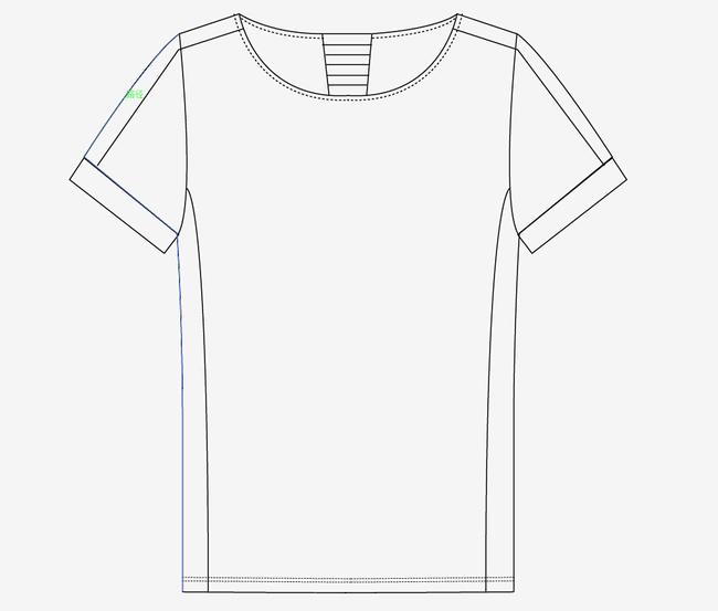 服装设计15款手绘t恤背心款式ai格式图片