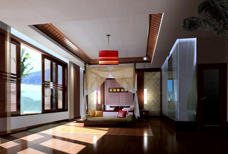 东南亚主卧室效果图