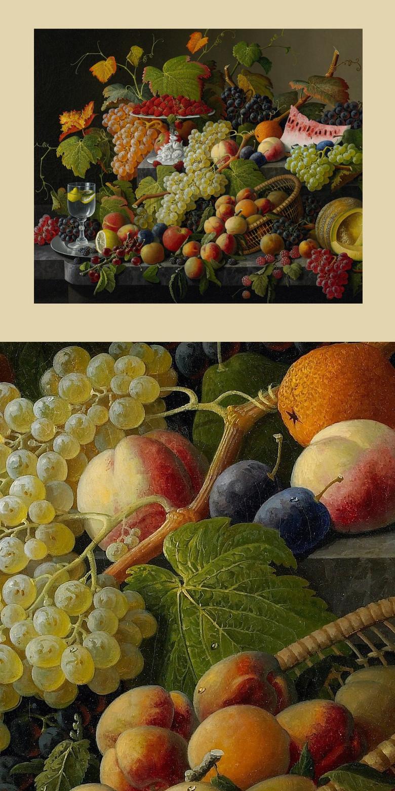 古典高清欧洲水果静物油画图