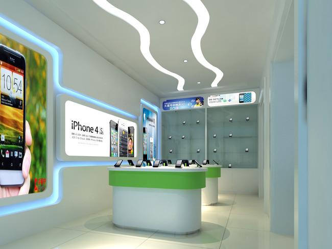 专卖店模型3d手机店模型天翼手机店模型效果图模型手机展示厅模型手机