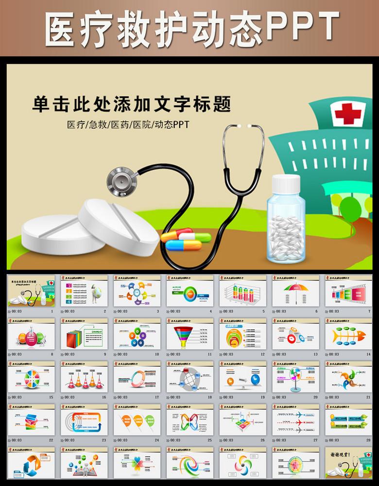 生医药公司药品护士PPT模板