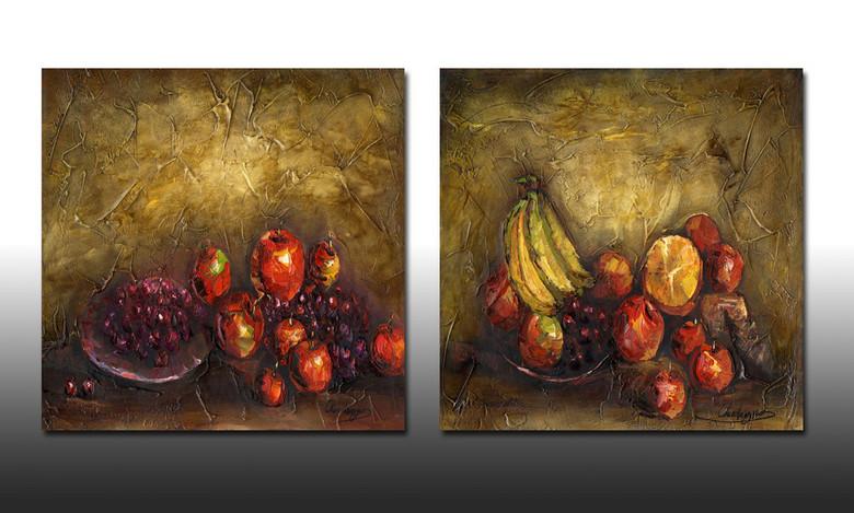 水果静物高端油画