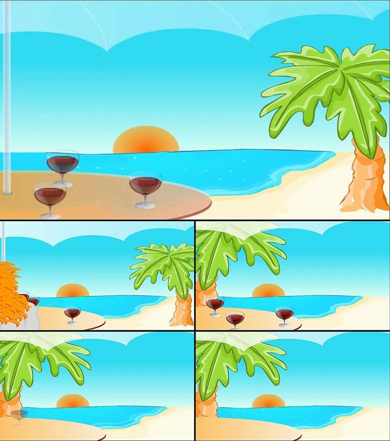 卡通动画舞台场景led背景素材图片