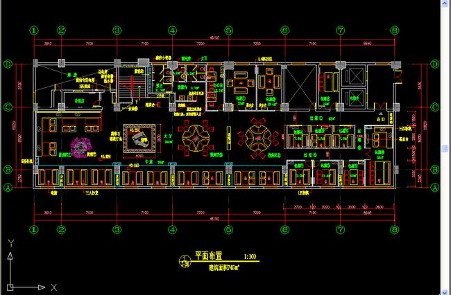 咖啡厅cad图纸设计平面图下载(图片1.77mb)_cad图纸