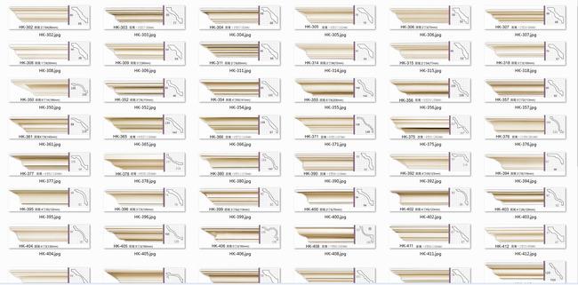 cad实木线条剖面模型附图片