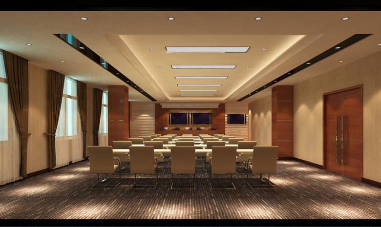 3d小型会议室多媒体会议室效果图模型设计图下载(图片图片