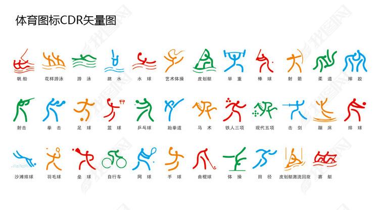 体育运动图标CDR格式