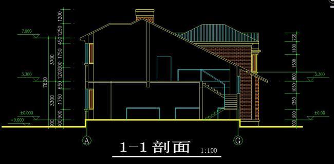 cad欧式别墅外立面施工图屋顶平面图